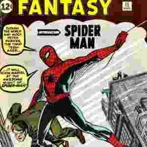 """Capa do gibi """"Amazing Fantasy"""", do Homem-Aranha - Reprodução"""