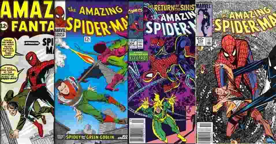Capas de HQs do Homem-Aranha - Reprodução