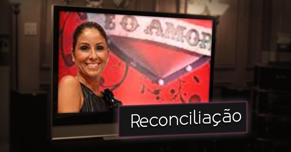 """Em """"É o Amor"""", apresentado por Patrícia Maldonado na Band em 2008, também seguiu a linha amorosa de outras atrações e tinha como objetivo tentar reconciliar casais, promover reencontro familiares"""