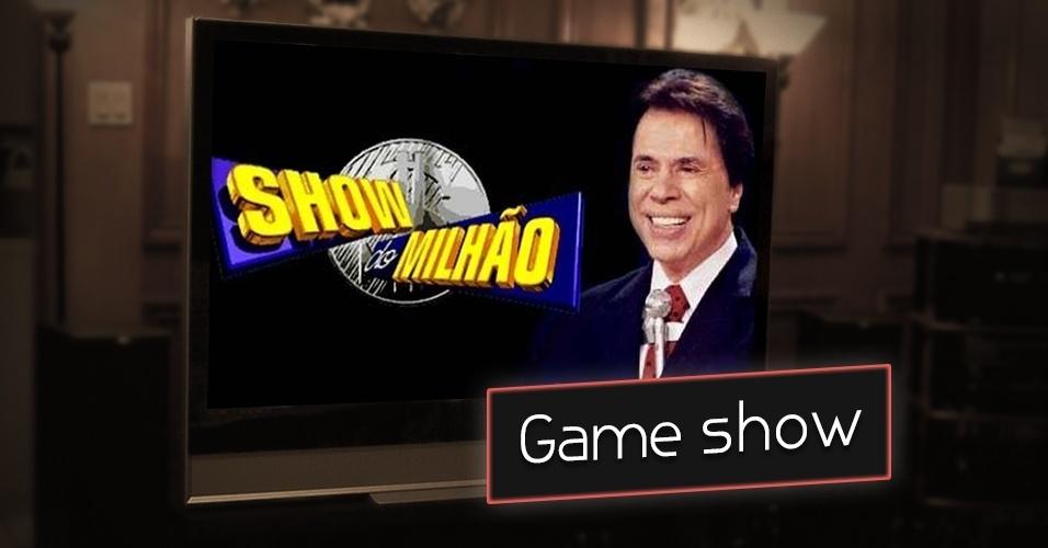 """Game show de perguntas e respostas que tem como prêmio R$ 1 milhão. Silvio Santos viu isso na televisão estrangeira e logo exportou para o Brasil com o nome """"Show do Milhão"""""""