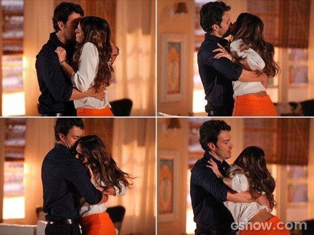 Laerte pega Luiza e a beija à força