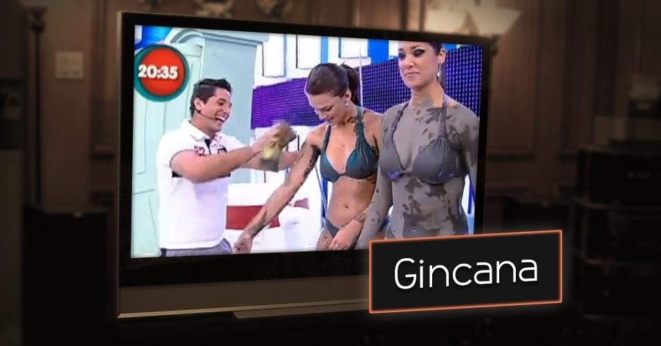 """No """"Programa do Gugu"""" exibido na Record até 2013, Gugu também tinha uma gincana. Na """"Corrida do Gugu"""", anônimos tentavam concluir uma maratona de provas em troca de uma viagem"""