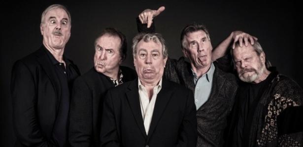 Os ex-integrantes do Monty Python John Cleese, Eric Idle, Terry Jones, Michael Palin e Terry Gilliam - Divulgação