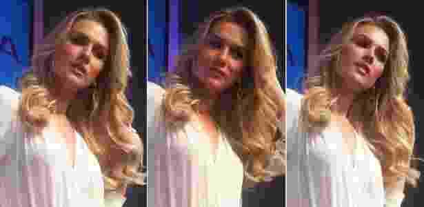 25.abr.2014 - Fiorella Mattheis participa de evento de beleza em São Paulo - Bianca Iaconelli/UOL
