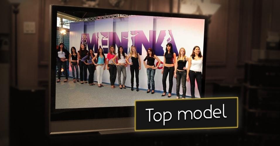 """A chance de virar modelo por meio de um concurso na televisão. Essa tática foi usada pelo """"Fantástico"""" da Globo, com o reality """"Menina Fantástica"""". A vencedora ganhava um contrato com a agência de modelos Mega Models, além de estampar editorias de moda"""