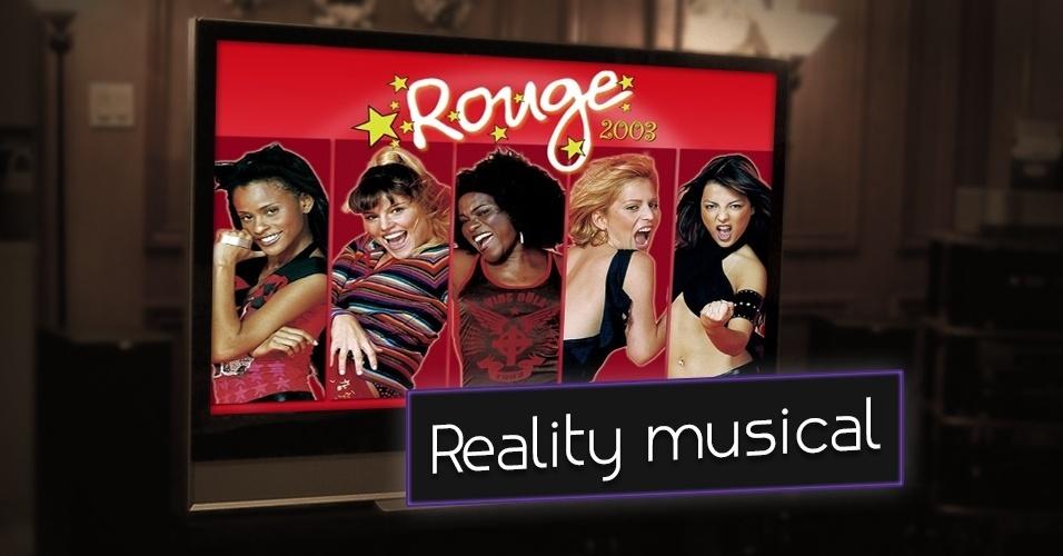 """Criado na Nova Zelândia, o reality show """"Popstars"""" foi apresentado no Brasil pelo SBT entre os anos de 2002 e 2003. Em 2002, foi revelado o grupo Rouge com o sucesso """"Ragatanga"""". Em 2005, quando o contrato com a Sony Music chegou ao fim, a banda também se desfez"""