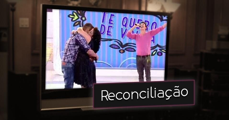 """Não basta juntar solteiros, no """"Melhor do Brasil"""" Rodrigo Faro também tentava reconciliar casais no quadro """"Te Quero De Volta"""""""