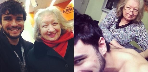 Inseparáveis: Fernando Aguzzoli e sua avó Nilva - Reprodução/Instagram/@aguzzoliperes