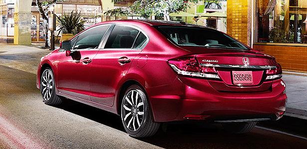Honda Civic 2014 americano traseira - Divulgação - Divulgação