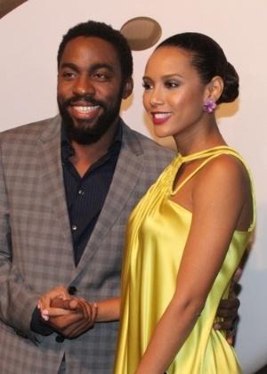 Taís Araújo está grávida de uma menina com o ator Lázaro Ramos. Eles já são pais de João Vicente, de 3 anos