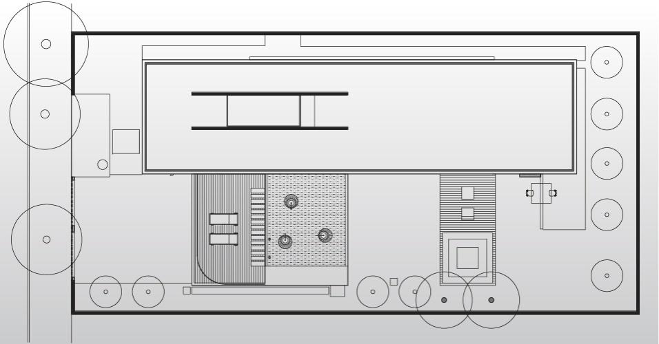 Desenho da cobertura da Casa Planalto, projetada em