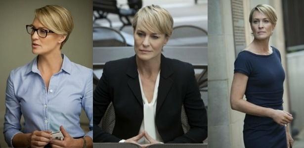 """Claire Underwood (Robin Wright), da série """"House of Cards"""", mostra boas inspirações para looks de trabalho para mulheres - Divulgação"""