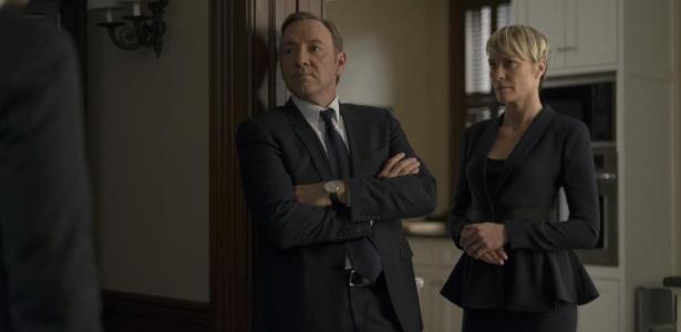 """Kevin Spacey e Robin Wright em cena de """"House of Cards"""", série da Netflix - Divulgação"""
