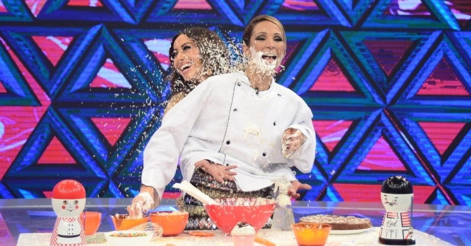"""Em nova edição do quadro Mão Boba do """"Programa da Sabrina"""", Valesca terá de preparar um bolo de """"beijinho"""", com a ajuda da """"mão boba"""" de Sabrina"""