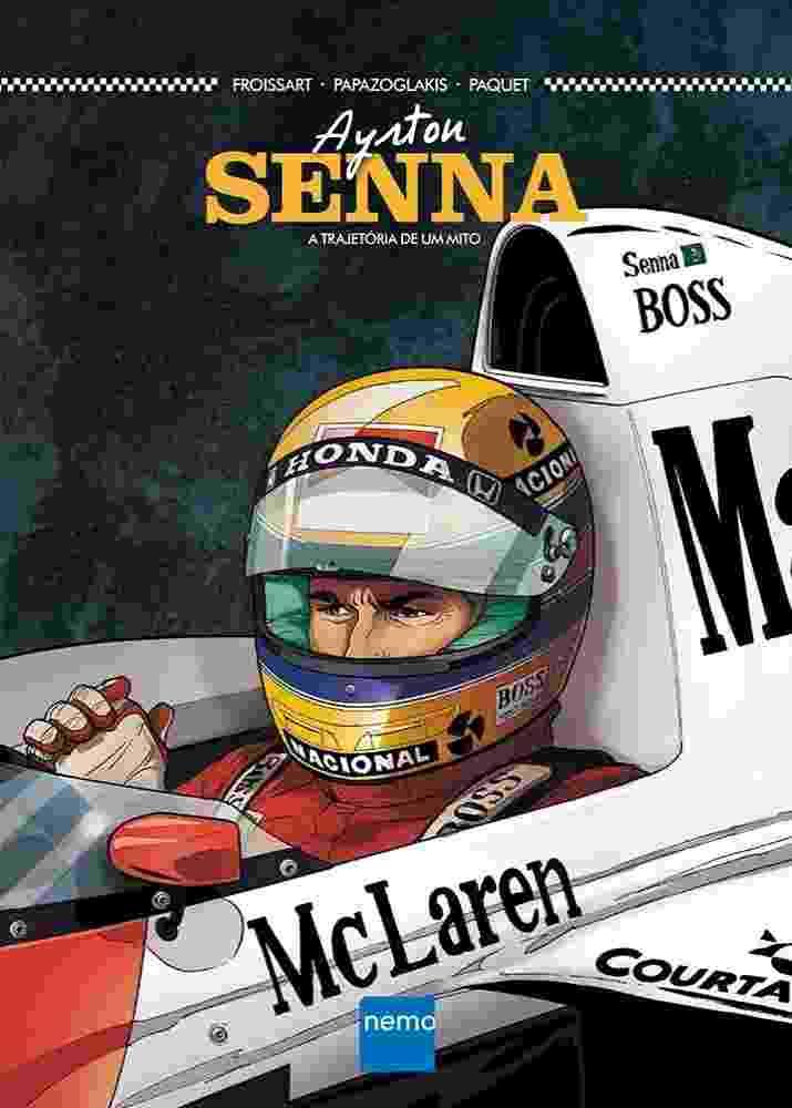 """Imagem da HQ """"Ayrton Senna: A Trajetória de um Mito"""" (editora Nemo) - Divulgação"""
