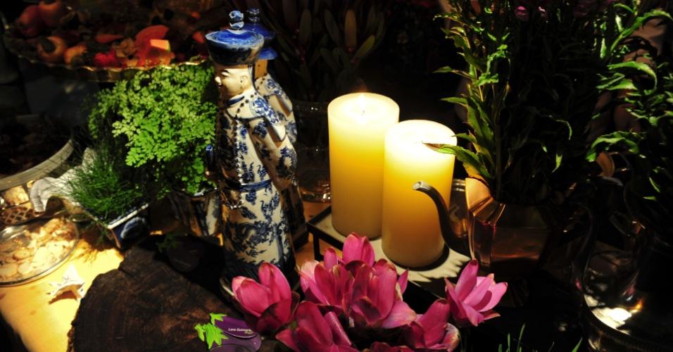 Proposta de mesa da Lara Guimarães Buffet (www.facebook.com/lara.guimaraes.75873), que trouxe a culinária mundial para a Degustar 2014, com decoração de Idyla Guimarães