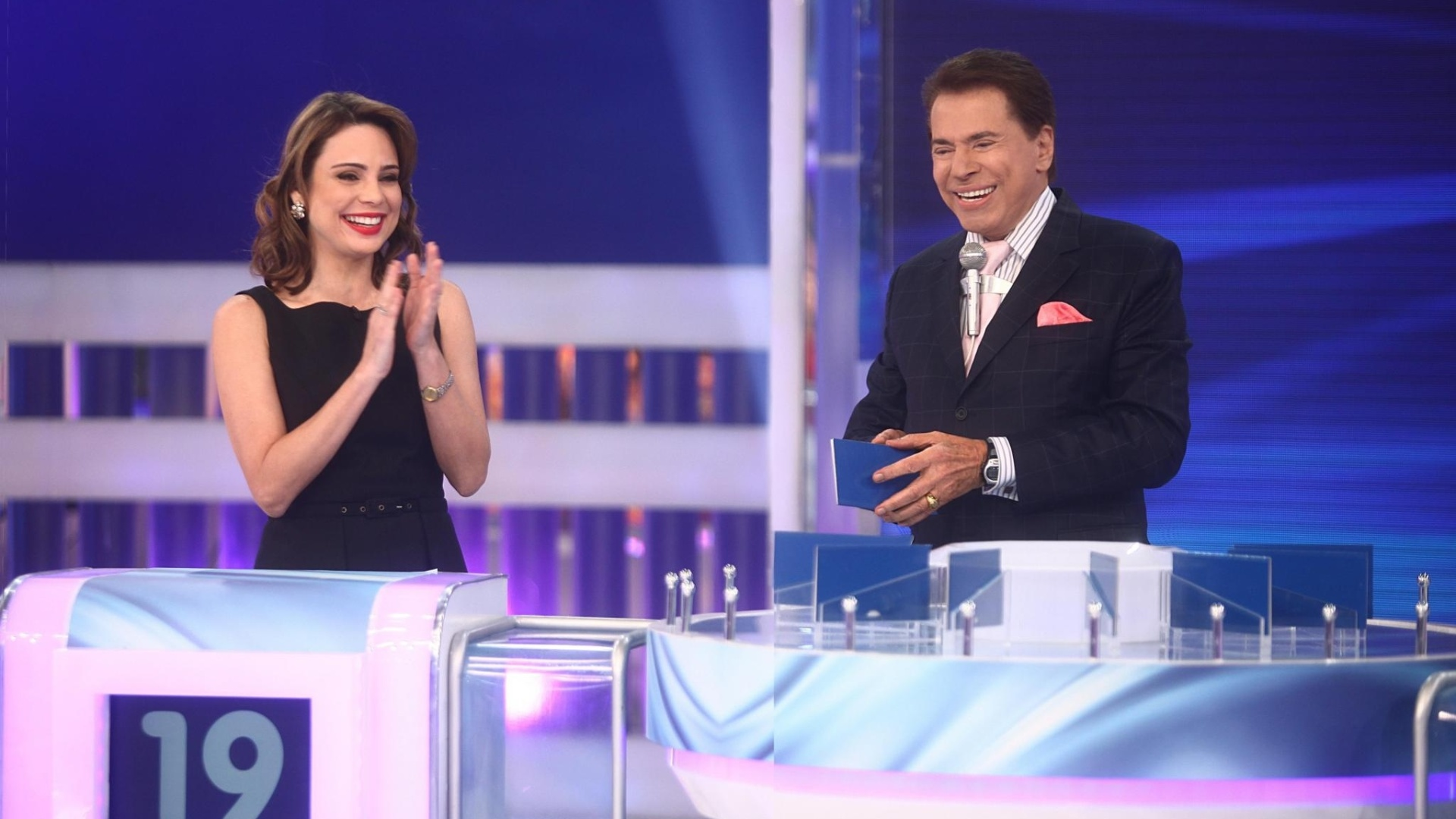 Silvio Santos recebe Rachel Sheherazade no