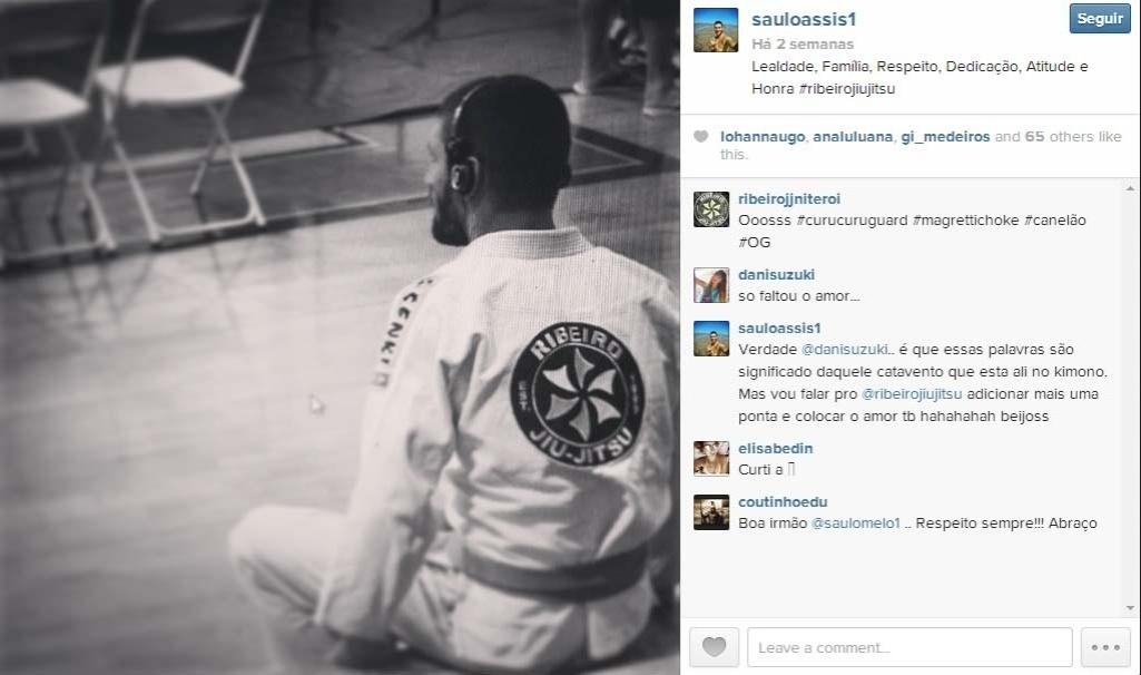 Dani Suzuki e Saulo Assis, lutador de jiu-jitsu, trocam mensagens românticas no Instagram