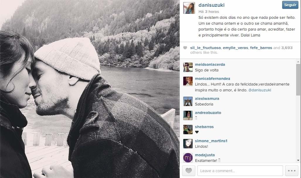 Dani Suzuki se declara para lutador de jiu-jitsu e publica foto romântica