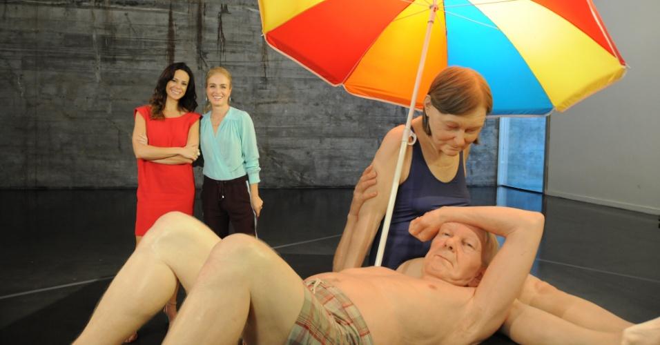 3.mai.2014 - Angélica e Vanessa Gerbelli vão a exposição no Rio