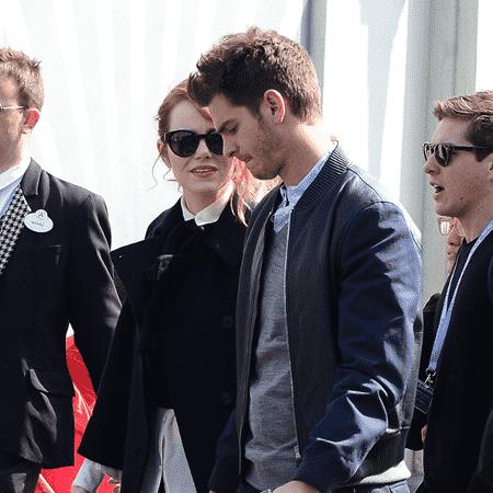 O casal em visita a Walt Disney Studios, na Disneylândia de Paris, em 2014 - Grosby Group/Abacapress