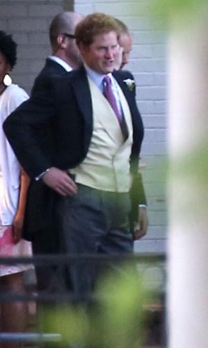 3.mai.2014 - Solteiro, Príncipe Harry curte casamento de amigo em Memphis, nos Estados Unidos