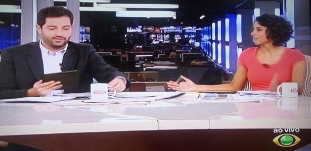 """Novo jornal da Band lembra o extinto """"Tudo a Ver"""", da Record; na imagem, os apresentadores Luiz Megale e Aline Midlej"""