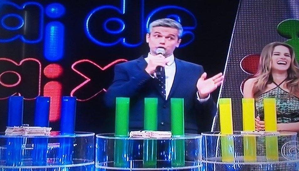 """5.mai.2014 - Otaviano Costa apresenta novo quadro do """"Vídeo Show""""; game foi sucesso no fim dos anos 1970"""