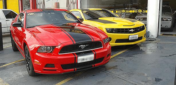 Camaro e Mustang importados - Leonardo Felix/UOL - Leonardo Felix/UOL