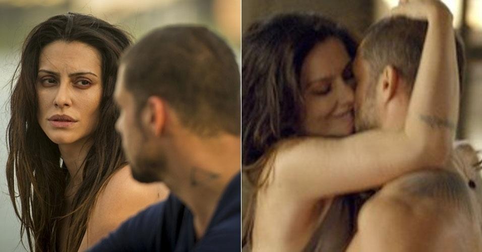 """Na série """"O Caçador"""", André (Cauã Reymond) tem um caso com a cunhada Kátia (Cléo Pires), que é casada com Alexandre (Alejandro Claveaux)"""