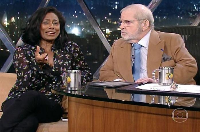 6.mai.2014 - Gloria Maria conversou com Jô Soares sobre beleza na noite desta terça-feira