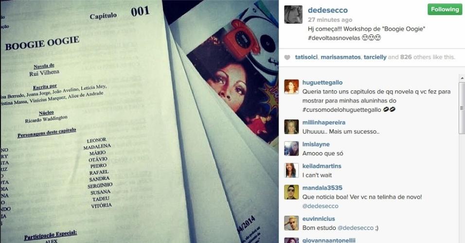 """7.mai.2014 - Deborah Secco começa a fazer workshop para a novela """"Boogie Oogie"""""""