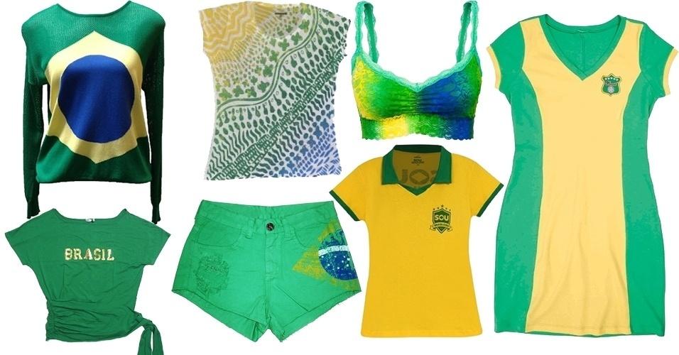 10540a7a7 Fotos  Verde e amarelo  veja roupas para torcer pelo Brasil na Copa ...