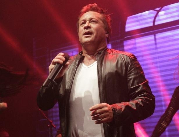 7.mai.2014 - Leonardo faz show comemorativo dos 30 anos de carreira no Villa Mix, na zona sul de São Paulo