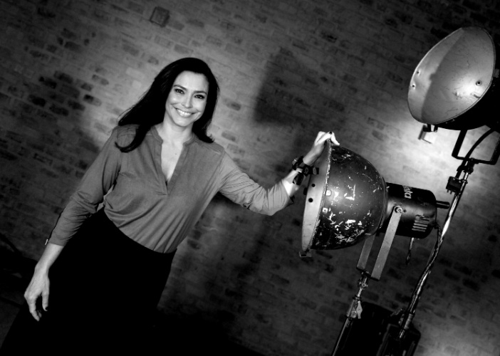 7.mai.2014 - Ex-musa do telejornalismo, Valéria Monteiro continua em boa forma física e diz que segredo é levar uma vida saudável