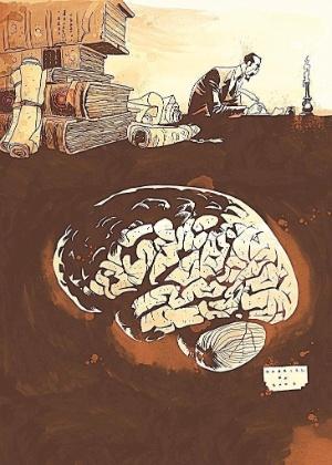 """Ilustração para adaptação de """"O Alienista"""" em quadrinhos - Divulgação"""