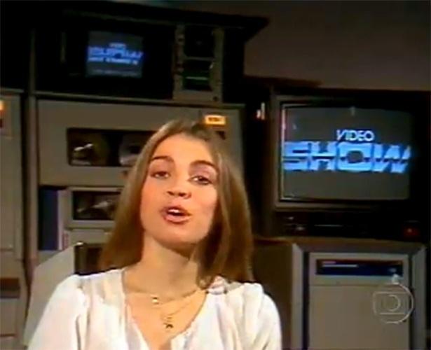 """Tássia Camargo foi a primeira apresentadora do """"Vídeo Show"""", que estreou no dia 20 de março de 1983"""