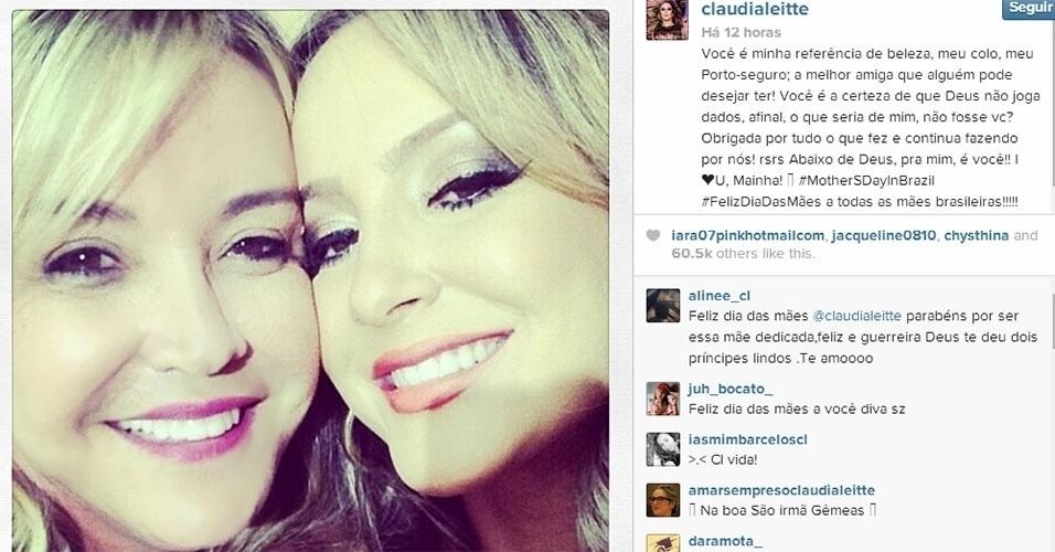 11.mai.2014 - Claudia Leitte também homenageou a mãe, Ilna
