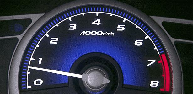 Conta-giros em rotação baixa - Reprodução - Reprodução