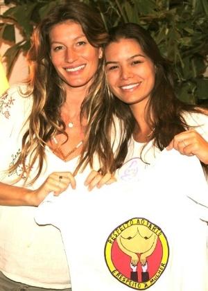 Gisele Bündchen e Mayra Calvette; a enfermeira acompanhou os dois partos da modelo - Divulgação