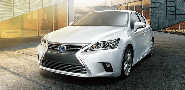 Com reestilização, híbrido CT 200h ganhou a family face adotada pela Lexus em seus novos modelos - Divulgação