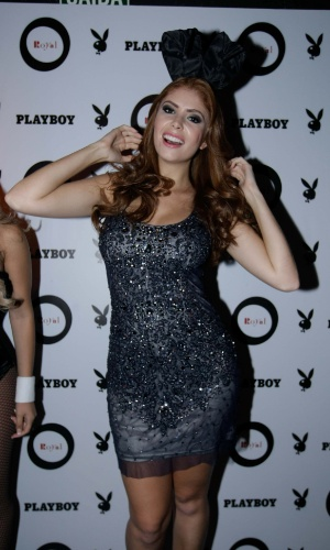 13.mai.2014 - Ex-BBB Amanda Gontijo lança sua Playboy