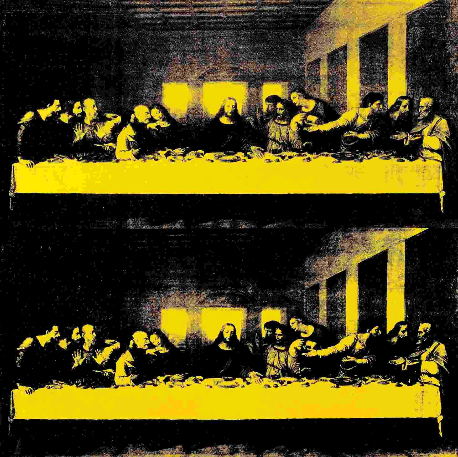 """14.mai.2014 - Reprodução distribuída pela casa de leilões Bukowski Comtemporary mostra a pintura """"A Última Ceia"""", de Andy Warhol - Bukowski Contemporary/AFP Photo"""