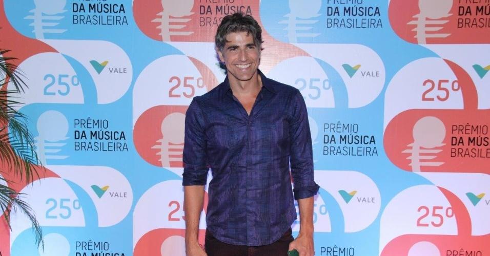 14.mai.2014 - Reynaldo Gianecchini chega ao Prêmio da Música Brasileira, no Rio de Janeiro