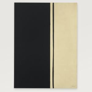"""Obra """"Black Fire I"""", de Barnett Newman de 1961, foi arremada por US$ 84 milhões - EFE"""