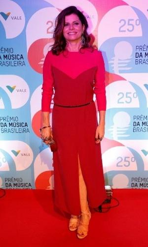 14.mai.2014 - A atriz Débora Bloch comparece ao 25º Prêmio da Música Brasileira no Rio de Janeiro