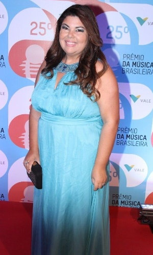14.mai.2014 - A atriz Fabiana Karla comparece ao 25º Prêmio da Música Brasileira no Rio de Janeiro