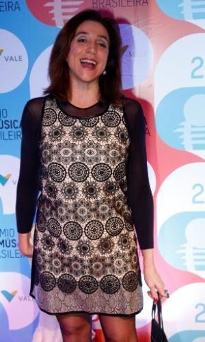 14.mai.2014 - A atriz Marisa Orth no 25º Prêmio da Música Brasileira no Rio de Janeiro