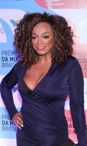 14.mai.2014 - A cantora Paula Lima no 25º Prêmio da Música Brasileira no Rio de Janeiro
