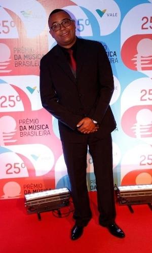 14.mai.2014 - O sambista Dudu Nobre no 25º Prêmio da Música Brasileira no Rio de Janeiro